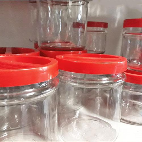 Barattoli Ortes in vetro con tappo rosso a vite - Certaldo