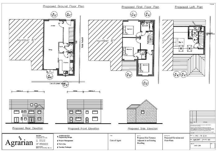 TERRACED HOUSE PLANS