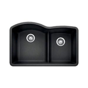 Blanco 441590 Diamond 1.75 Low Divide Under Mount Double Bowl Kitchen Sink