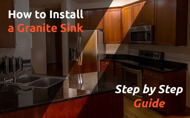 How to install granite sink