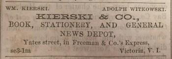 William Kierski opens Kierski & Co. in Victoria