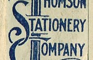 Thomson Bros. renamed as Thomson Stationery