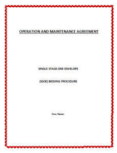 Operation and Management Agreement Template