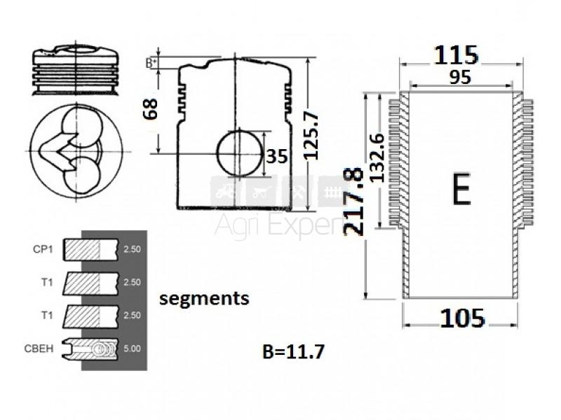 02910303 tracteur Deutz-Fahr D15, D30, D40, D40/2, D40/964