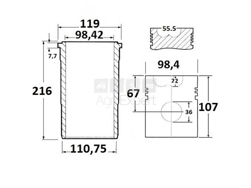 Jeu de révision moteur Case IH D-239, 3144516R97