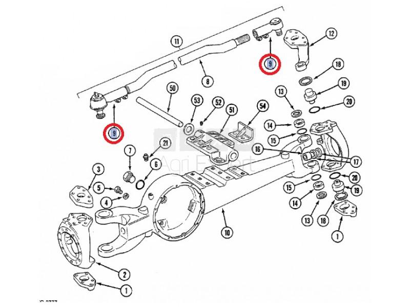 Rotule direction pont ZF APL3052 Case IH 3146733R1