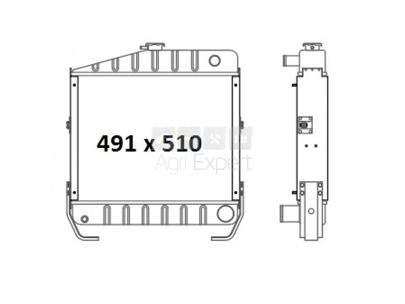 Radiateur Case IH 844XL, 845XL, c, 3399930R1,
