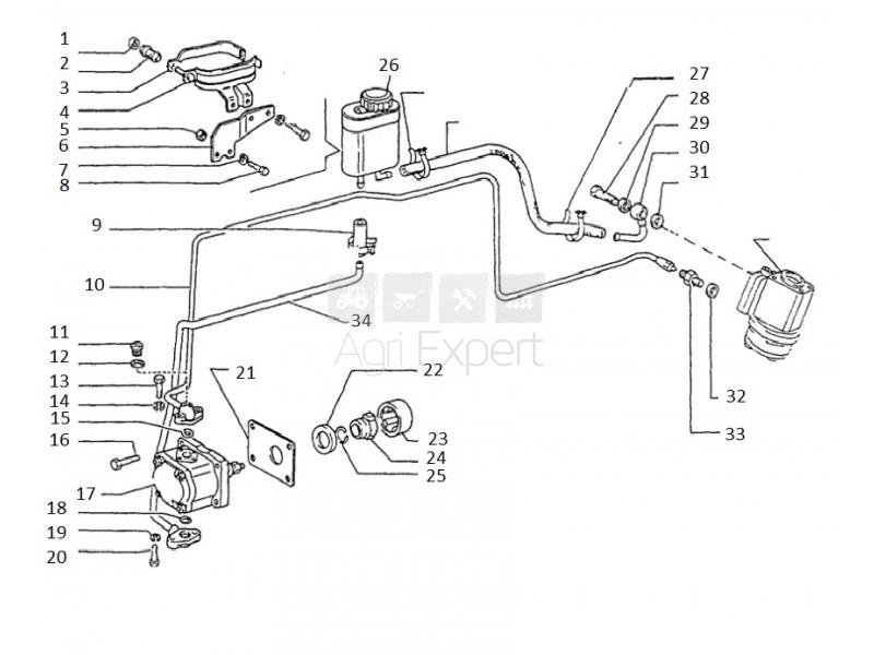 5118569 Accouplement de pompe hydraulique tracteur Fiat