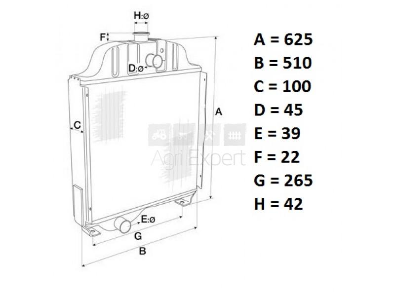 5159615 Radiateur de refroidissement moteur Fiat 480, 500