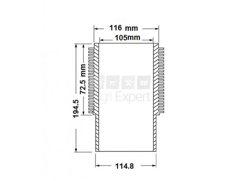 Chemise moteur SAME 1000-3A, 1000-4A, 1000-4A1, 008511200