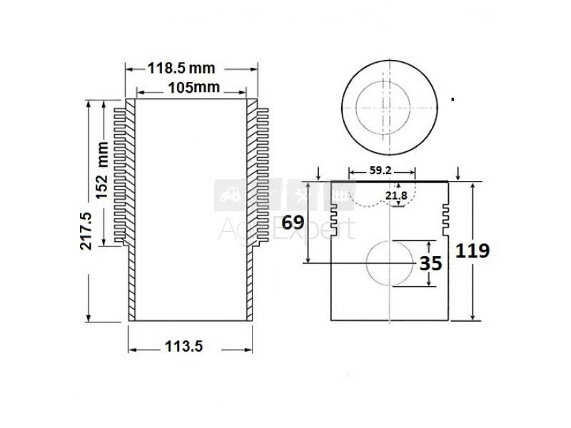 0.073.0065.6 Kit chemise piston révision Same 1054P, 1055P