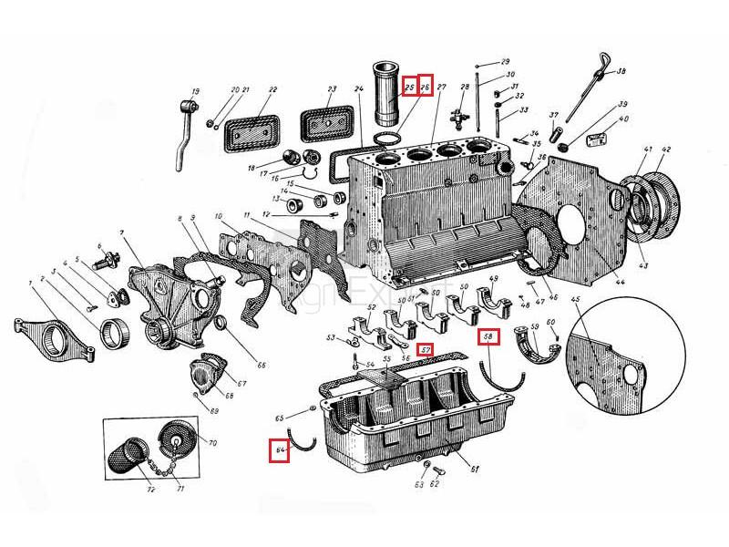 Kit révision moteur de tracteur AVTO sur Agri-expert.fr