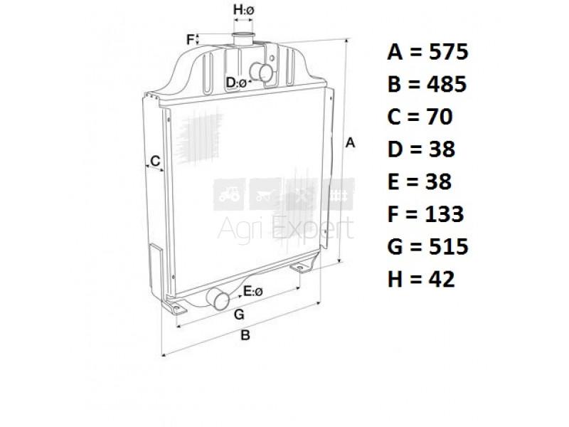 3121413R91,84524C93 Radiateur de refroidissement moteur