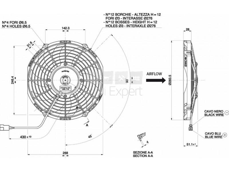 Ventilateur de climatisation Landini REX VA11-AP7/C-57A