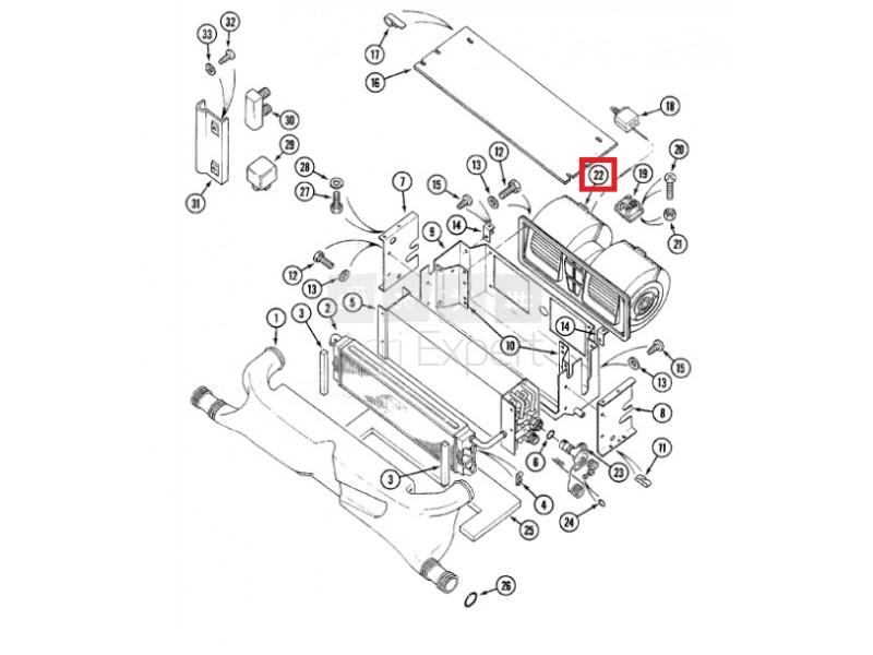 Ventilateur cabine CASE IH, 355190A1, 1977564C1, 1977564C2
