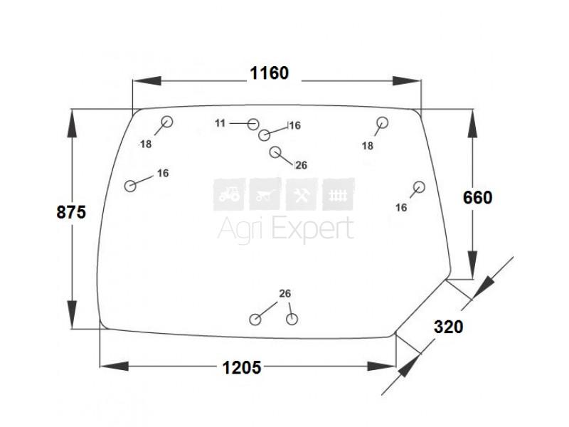 Vitre Arrière supérieure Deutz-Fahr agrotron TTV et MK3