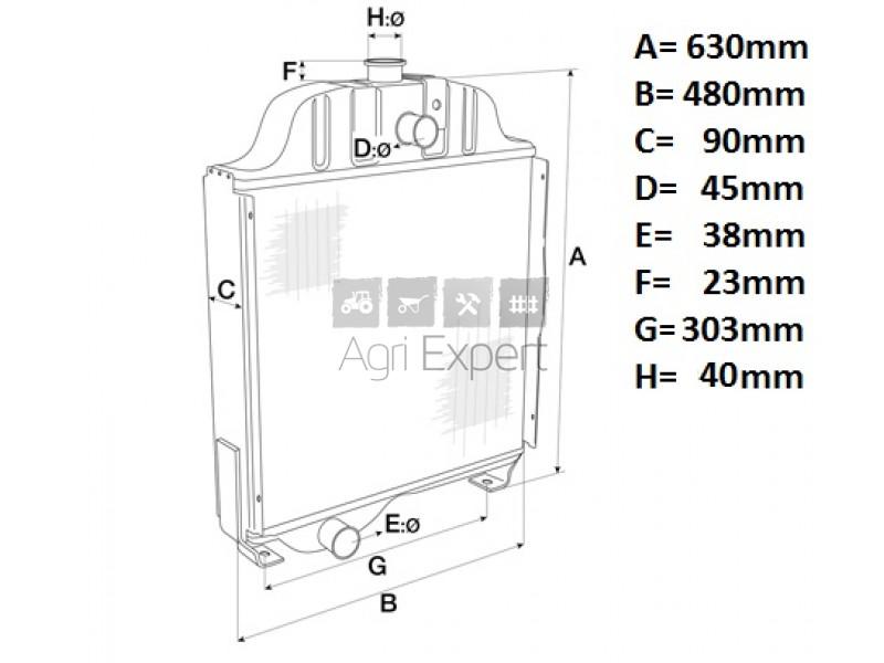 1824627M93 Radiateur de refroidissement moteur Massey
