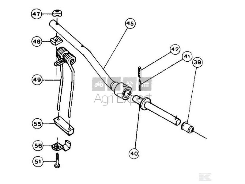 57645810 Support de bras porte dents Kuhn GRS 25, GRS 25N