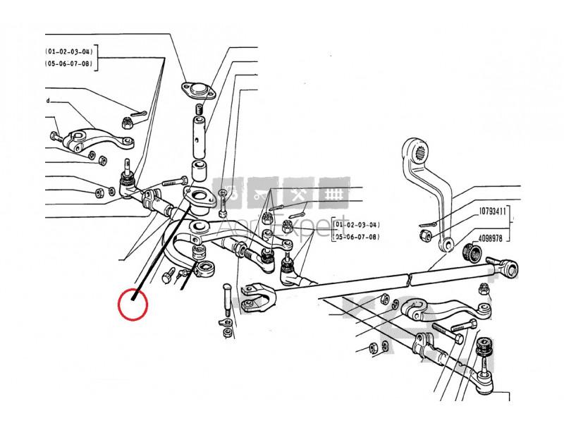 588304 Support direction tracteur Fiat Someca 400, 400DT