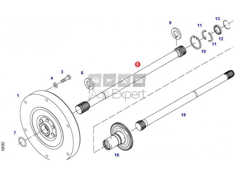 718100420012 arbre de transmission tracteur Fendt VARIO
