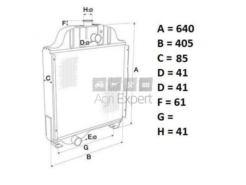 1669648M95 Radiateur de refroidissement tracteur Massey