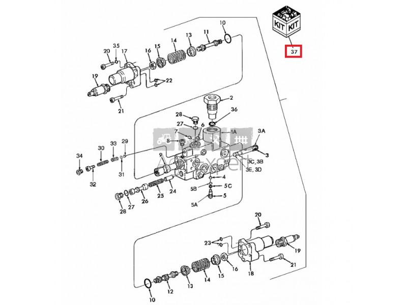 Kit révision distributeur hydraulique Tracteur New-Holland