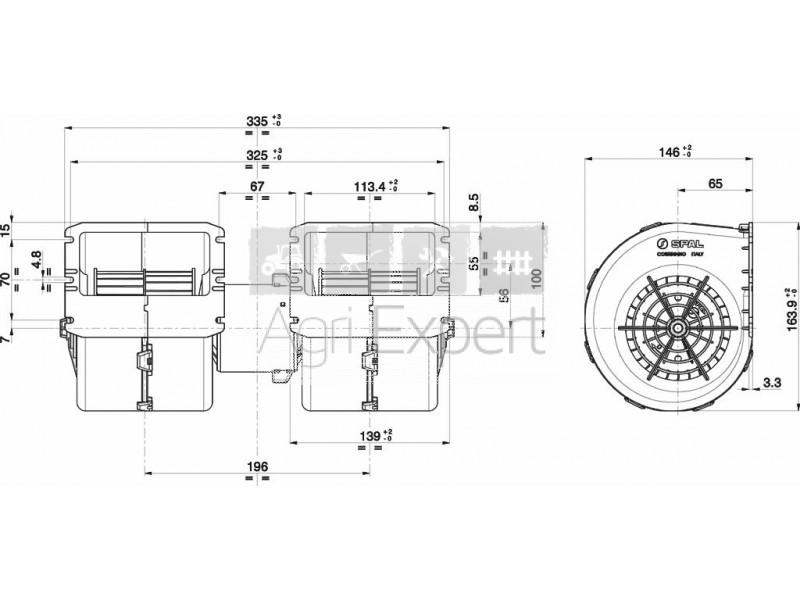Ventilateur SPAL 009-A39-22