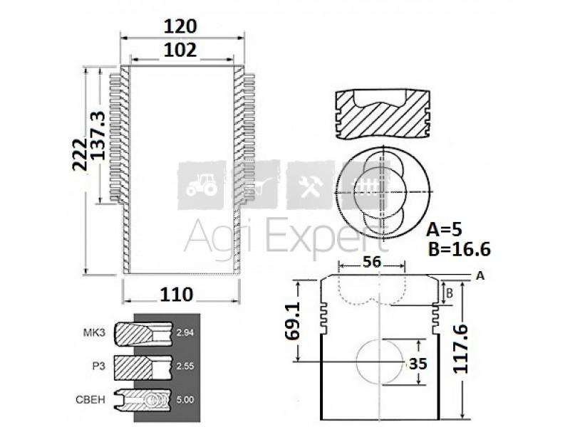 Kit rénovation Deutz F6L913, 02929981, 02925625, 02929973