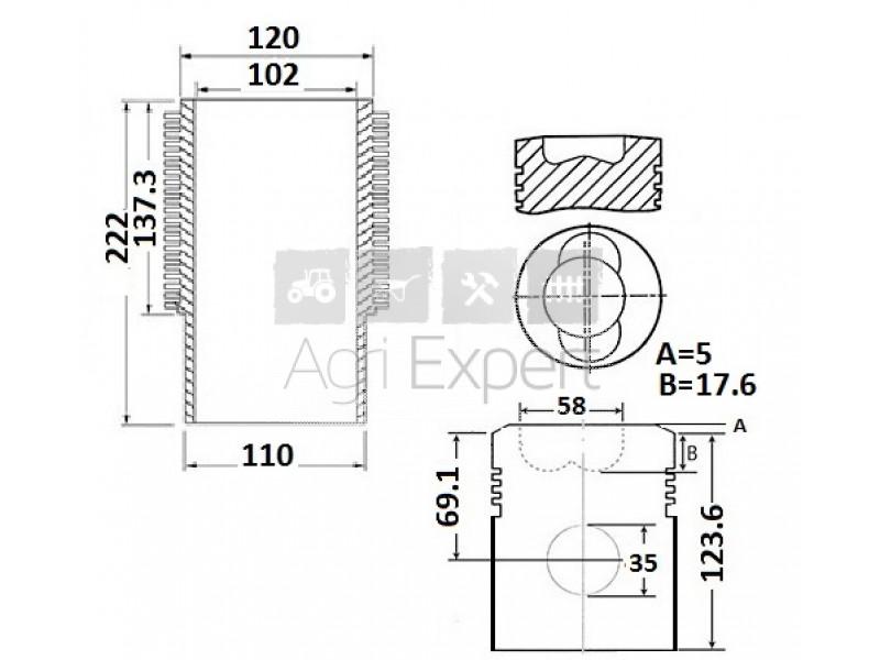 BF6L913 kit de révision moteur Deutz, 02929985, 02925624