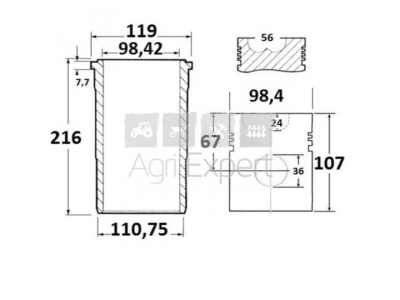 Kit révision moteur Case IH D358 Case, 1806470C91
