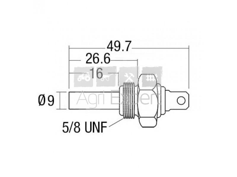 Sonde de température moteur, tracteur David Brown, Landini