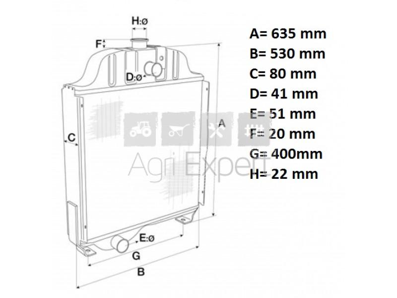 Radiateur de tracteur Case IH 955 XL, 956 XL, 1055 XL