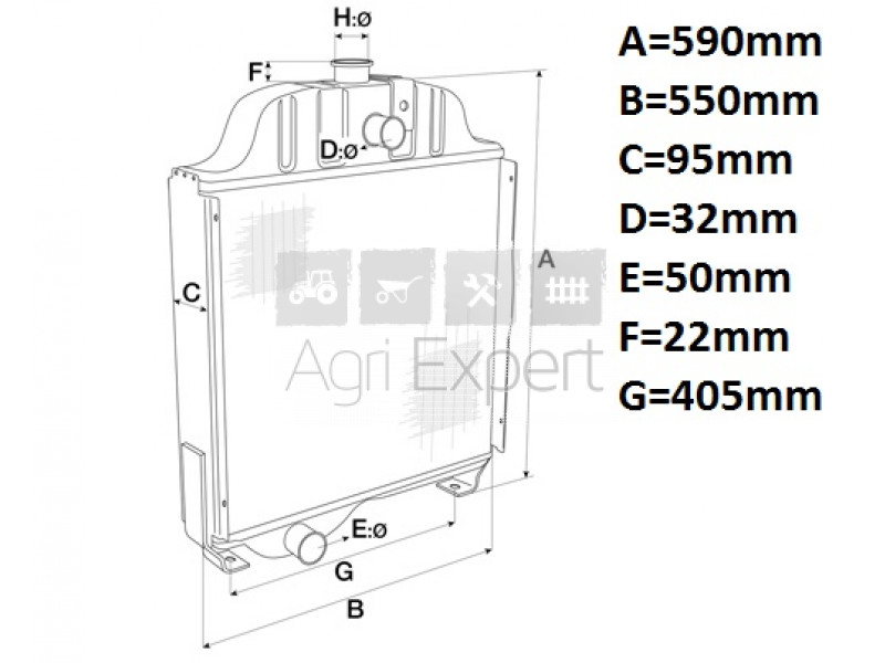 3216849R92 Radiateur pour Case IH 743, 745XL, 844XL, 845