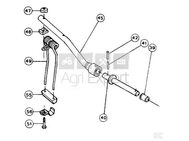 Support de bras porte dents Kuhn GRS 25, GRS 25N, GA 230G