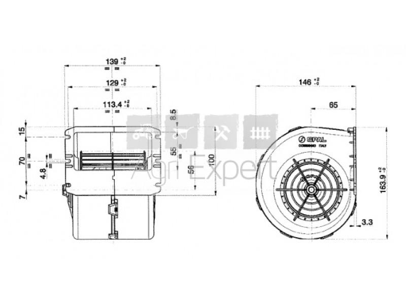 009-A70/I-74D Ventilateur 009-A22-26D, 7700053495