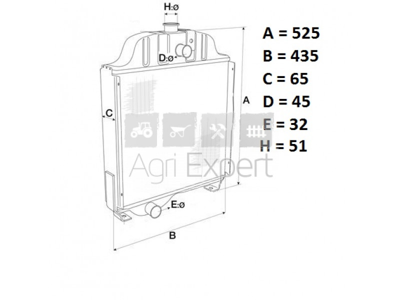 81805483, 957E8005 Radiateur de refroidissement moteur