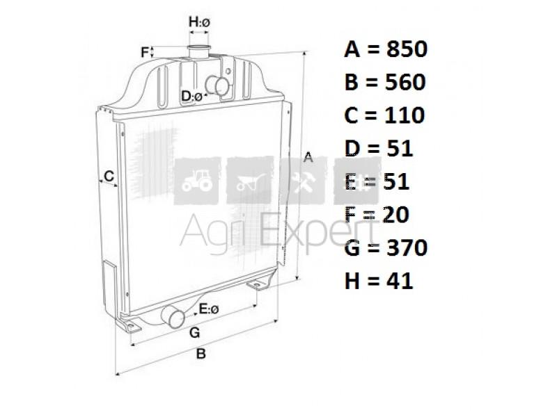 Radiateur de refroidissement moteur tracteur Fiatagri M100