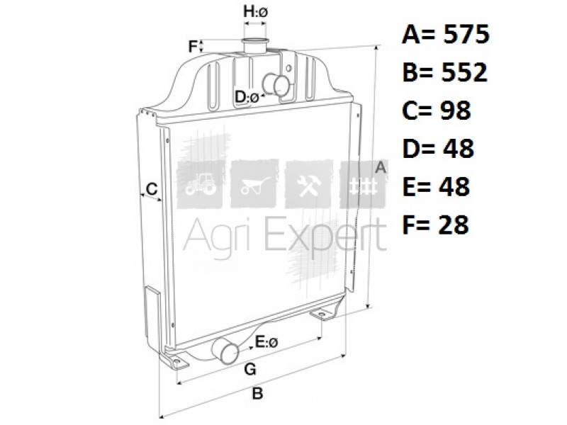 84175586, 84250074 Radiateur refroidissement tracteur Case