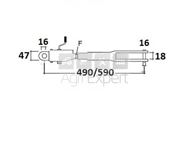 1884342M92 Suspente de relevage tracteur Massey-Ferguson