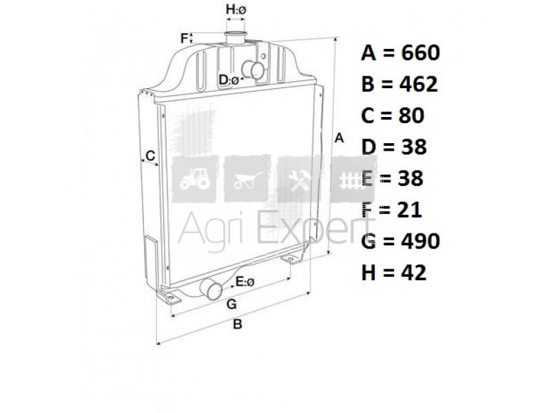 Bouchon de rfadiateur de refroidissement David Brown 990