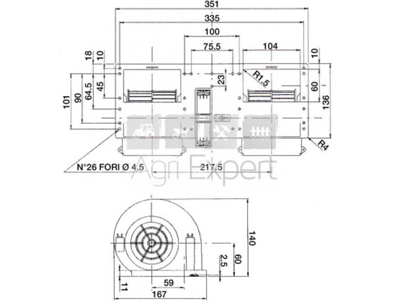 Ventilateur de cabine tracteur Renault Ceres, 650, 750