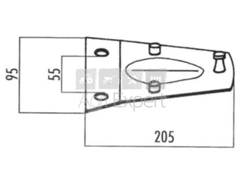 06563514 Porte couteaux pour faucheuse Deutz Fahr, KM20