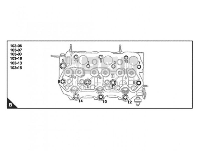 Pochette de joints haut moteur avec joint de culasse