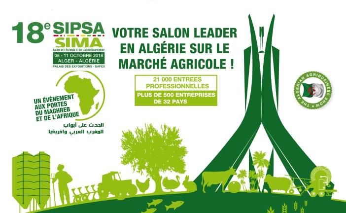 Salon SIPSA-SIMA 2018 : Alger du 8 au 11 octobre 2018