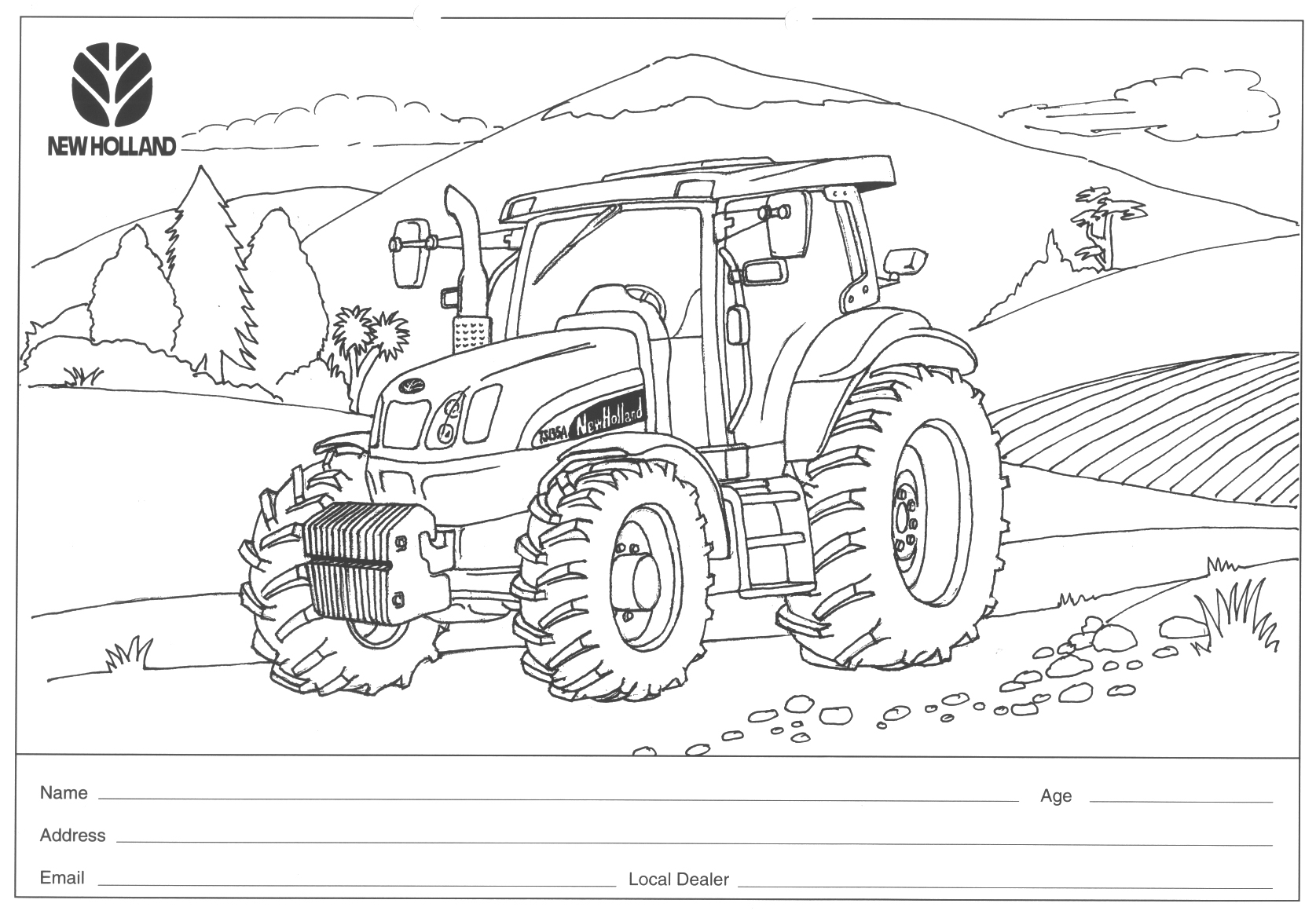 International Tractor Coloring Pages