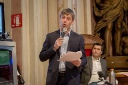Massimo Carlotti durante il suo intervento