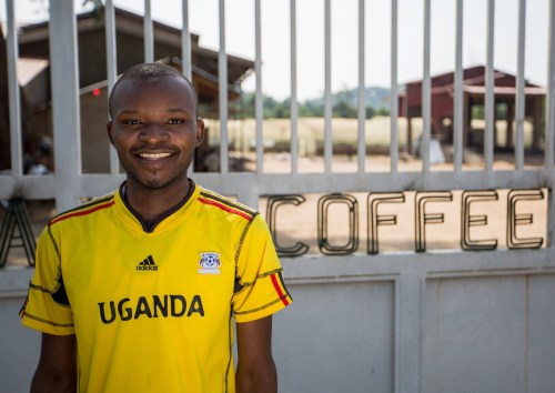 Muhindo,one of our coffee buyers sourcing the best berries in the Rwenzori