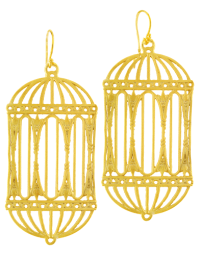 GRAND ANTIQUE BIRDCAGE EARRING  Agrigento Designs