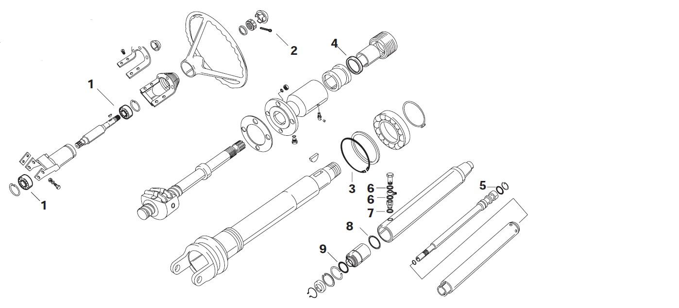 Kogellager (nr 1 in bijlage) Serie 6005 Type ZZ I/D= 20mm