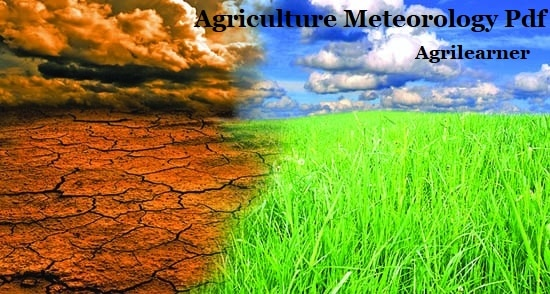Agriculture Meteorology Pdf